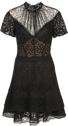 Jonathan Simkhai lace insert mini dress
