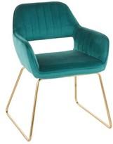Everly Aliceville Velvet Upholstered Dining Chair Quinn Upholstery Color: Green