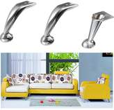 Buckdirect Worldwide Ltd. 120mm Chrome Steel Furniture Table Sofa Leg Cupboard Cabinet Bed Acessaries
