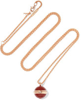 Piaget Possession 18-karat Rose Gold, Carnelian And Diamond Necklace - one size