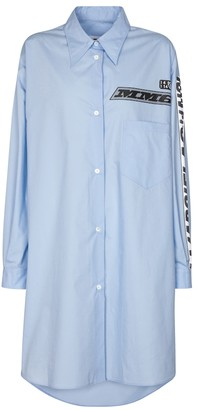 MM6 MAISON MARGIELA Logo cotton poplin shirt dress