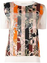 Emilio Pucci abstract striped print T-shirt