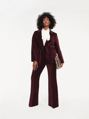 Tommy Hilfiger Zendaya Curve Velvet Bootleg Trousers