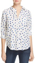 NYDJ Shell Print Button Down Shirt