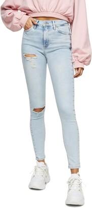 Topshop Jamie Brooklyn Rip High Waist Skinny Jeans