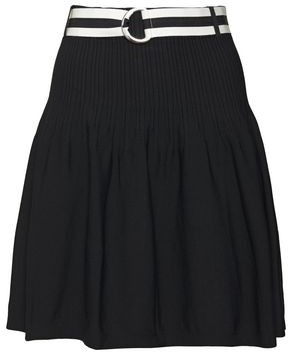 Claudie Pierlot Belted Pleated Jersey Mini Skirt