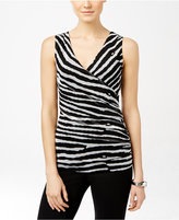 INC International Concepts Sleeveless Surplice Top, Only at Macy's