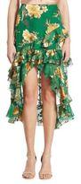 Alice + Olivia Sasha Hi-Lo Tiered Ruffled Skirt