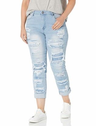 Cover Girl High Waisted Cute Ripped Patched Repair Skinny Juniors