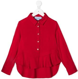 Mi Mi Sol Ruffled Trim Polo Shirt