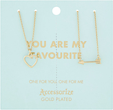 Accessorize You Are My Favourite Tear & Share Necklaces