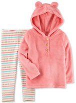 Carter's 2-Pc. Faux-Fur Hoodie and Striped Leggings Set, Toddler Girls (2T-5T)