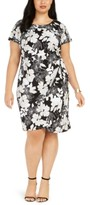 Robbie Bee Plus Size Jersey Side-Knot Dress
