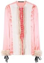 Haider Ackermann Iteso Ruffled Silk Blouse