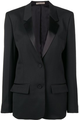 Bottega Veneta Satin Lapel Blazer