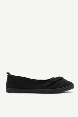Ardene Pleated Canvas Sneakers