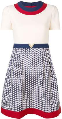 Valentino Garavani short-sleeve printed dress