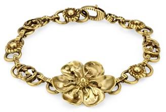 Gucci Metal bracelet with floral detail
