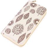 Riah Fashion Brown Leaf Aztec Wallet