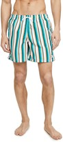 Bather Green Stripe Swim Shorts
