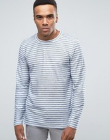 Jack and Jones Long Sleeve T-Shirt In Stripe