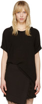Raquel Allegra Black Gauze Boxy T-shirt