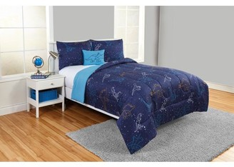Beco Home Dino Skies 3 Piece Comforter Set with decor pillow Twin