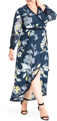 Standards & Practices Elle High/Low Wrap Dress