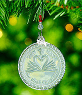 Waterford Crystal Our First Christmas 2017 Ornament