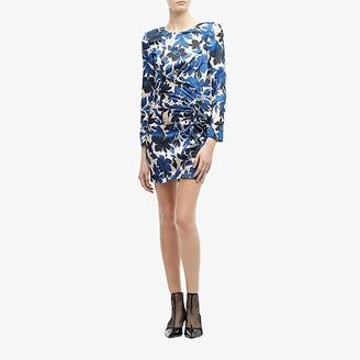 Moschino Jacquard Floral Silk Dress