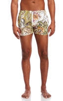 Just Cavalli Floral Print Swim Trunks