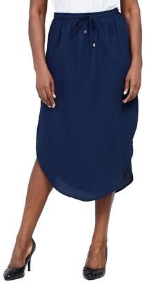 M&Co Izabel Curve tie waist midi skirt