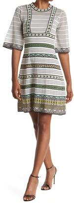 M Missoni Mixed Border Print Mini Dress