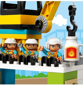 Lego Duplo 10933 DUPLO Town Tower Crane with 5 DUPLO Figures and 4 Vehicles