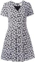 MICHAEL Michael Kors leaf print flared dress - women - Cotton/Polyester/Spandex/Elastane - 4