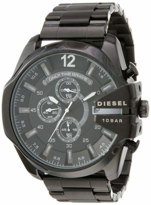 Diesel Men's Master Chief Quartz Leather Three-Hand Watch