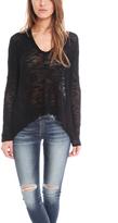Helmut Lang Irregular Silk Sweater Pullover