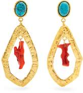 SYLVIA TOLEDANO Corail gold-plated clip-on drop earrings