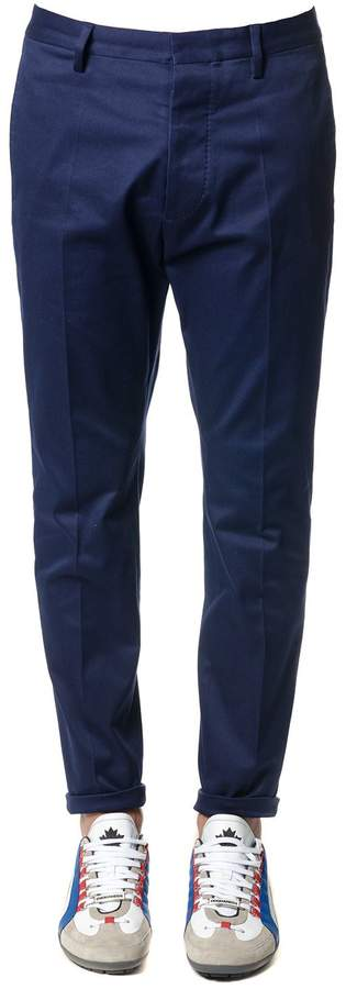 DSQUARED2 Blue Cotton Tailored Trousers