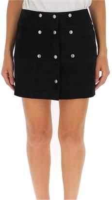 Saint Laurent Front Button A Line Skirt