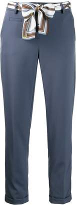 Cambio cropped belted trousers