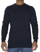 Voi Jeans New Mens Designer Crew Neck Jumper Harris Navy