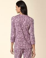 Soma Intimates Embraceable Sleep Cardigan Rosette Uptown Leopard