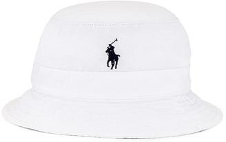 Polo Ralph Lauren Bucket Hat in White   FWRD