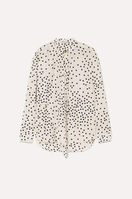 Stella McCartney Polka-dot Silk-georgette Blouse - White