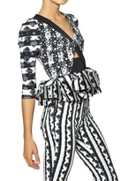 Peter Pilotto Printed Scuba And Silk Twill Top