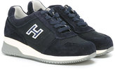 Hogan logo trainers - kids - Leather/rubber/polyester - 28