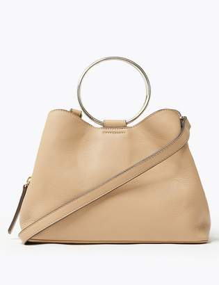 Marks and Spencer Leather Ring Grab Cross Body Bag