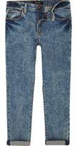 River Island Boys blue acid wash skinny jeans