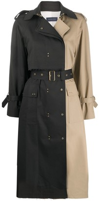 Eudon Choi Two-Tone Trench Coat
